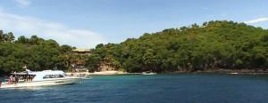 diving bali Padang Bai вид на дайв сайт Blue Lagoon