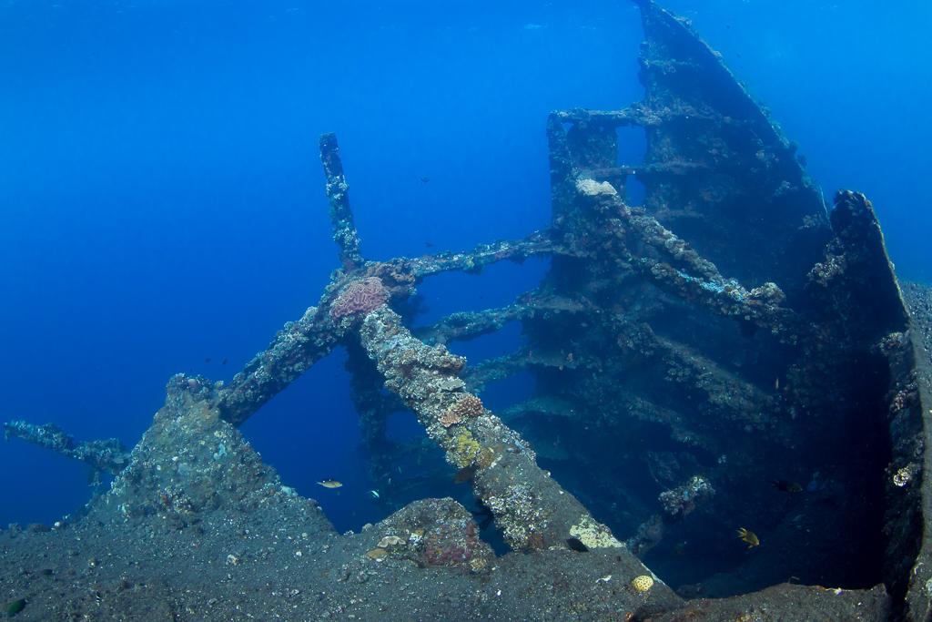Затонувший корабль Liberty