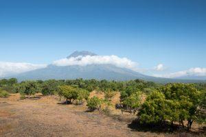 Вулкан Agung в Tulamben